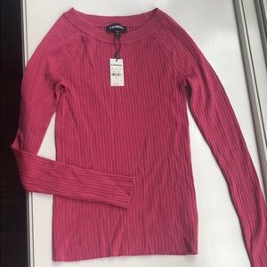 Fitted Pink Sweater from Express